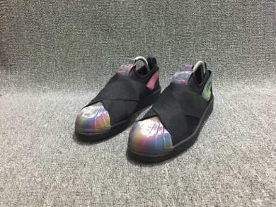 Adidas Superstar SLIP ON los zapatos de color negro/del arco iris