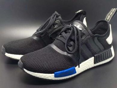 Adidas formadores NMD zapatillas de deporte negro blanco azul