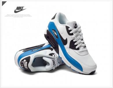 Nike Air Max 90 instructores Esenciales blanco-azul-negro