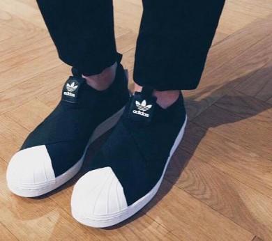 Adidas Superstar SLIP ON zapatillas de deporte negras/blancas