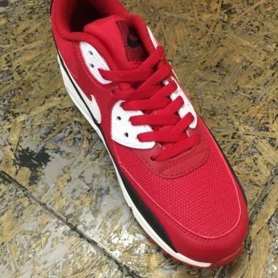 Nike Air Max 90 Zapatos de la zapatillas de color rojo-blanco-negro