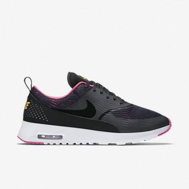 Nike Air Max zapatos Thea EM formadores Negro/Rosa explosiva/Laser Naranja/Negro