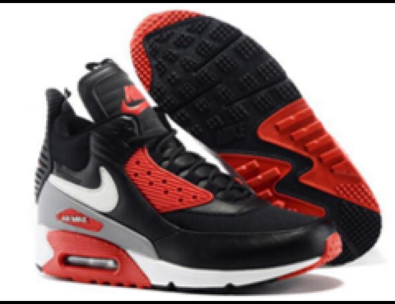 Gastos Escupir Reprimir  Nike Air Max 90 Hightop negro rojo outlet de los zapatos
