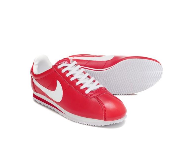Nike Classic Cortez Cuero 09 formadores zapatos blancos ...